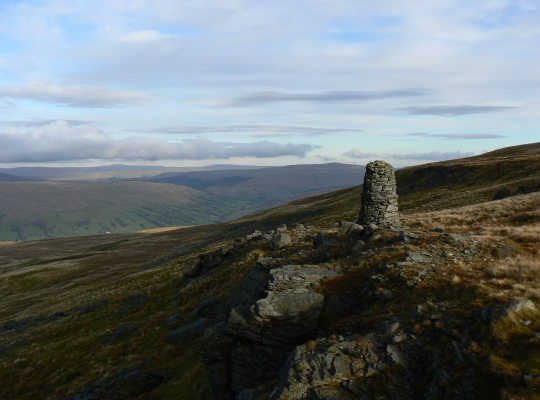 The well built cairn on The Crag