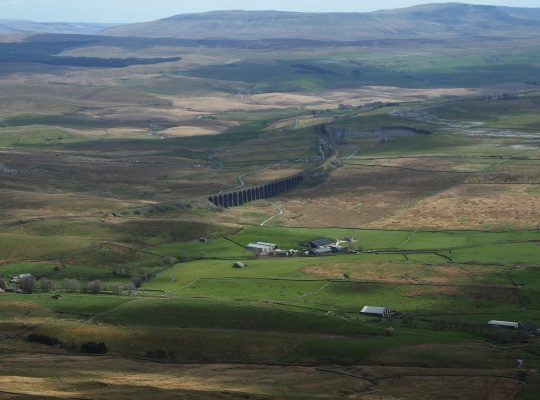 Ribblehead Viaduct from Whernside