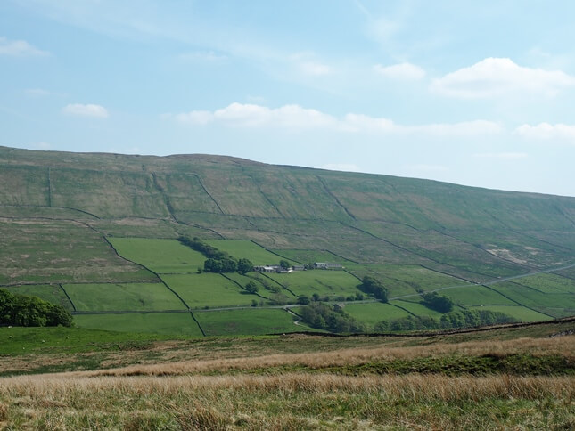 Drumaldrace as seen from the other side of Sleddale