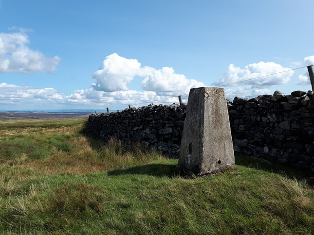 The Ordnance Survey trig point on Great Pinseat
