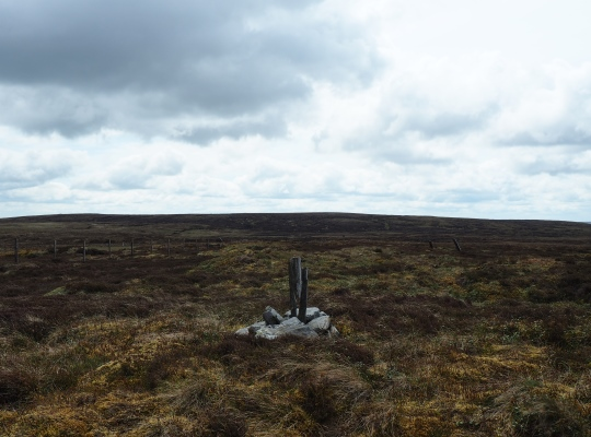 The small cairn on the 634m spot height