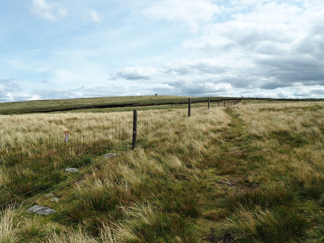 Following the fence on to the summit from Buttertubs