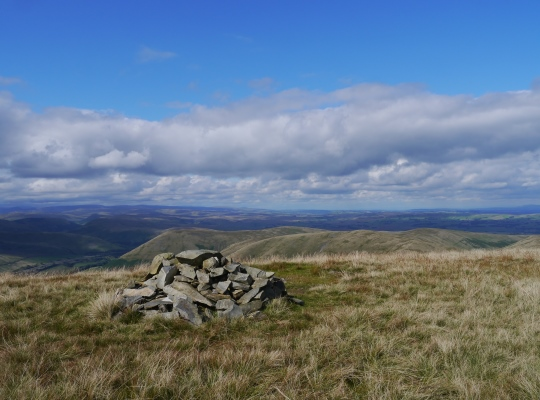The summit cairn on Fell Head