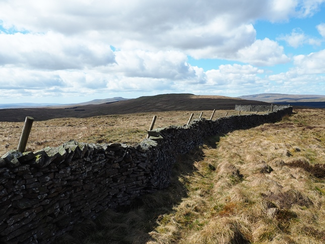 Following the wall to High Green Field Knott from Horse Head Moor