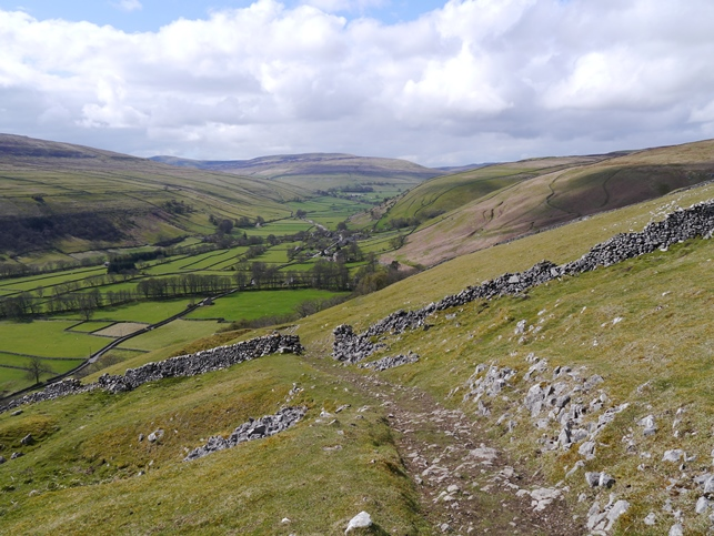 Looking down into Littondale from the Litton to Buckden bridleway that crosses Birks Fell