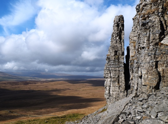 The spectacular Pen-y-ghent Pinnacle