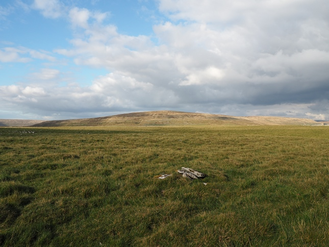 The 559m summit of Wold Fell looking towards Great Knoutberry Hill