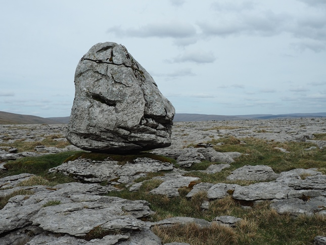 The large limestone boulder called the 'Obelisk'