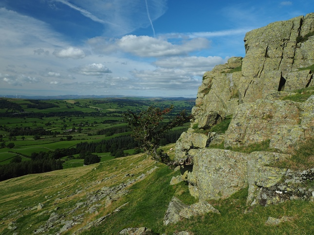 Devil's Crag an example of a Silurian crag on Castle Knott