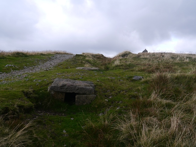 The geocache just below the summit