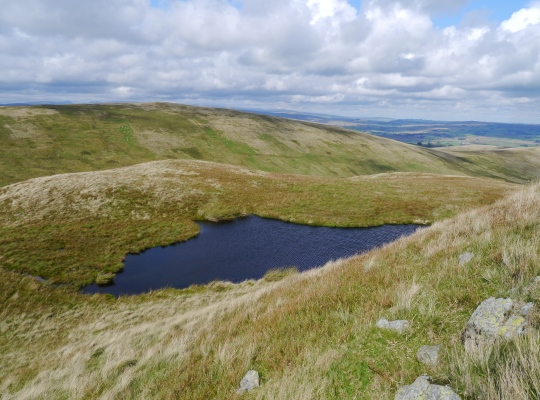 Looking back down at Archer Tarn from Archer Hill