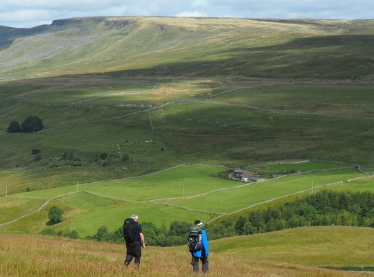 Looking across Mallerstang towards Hangingstone Scar and Archy Styrigg