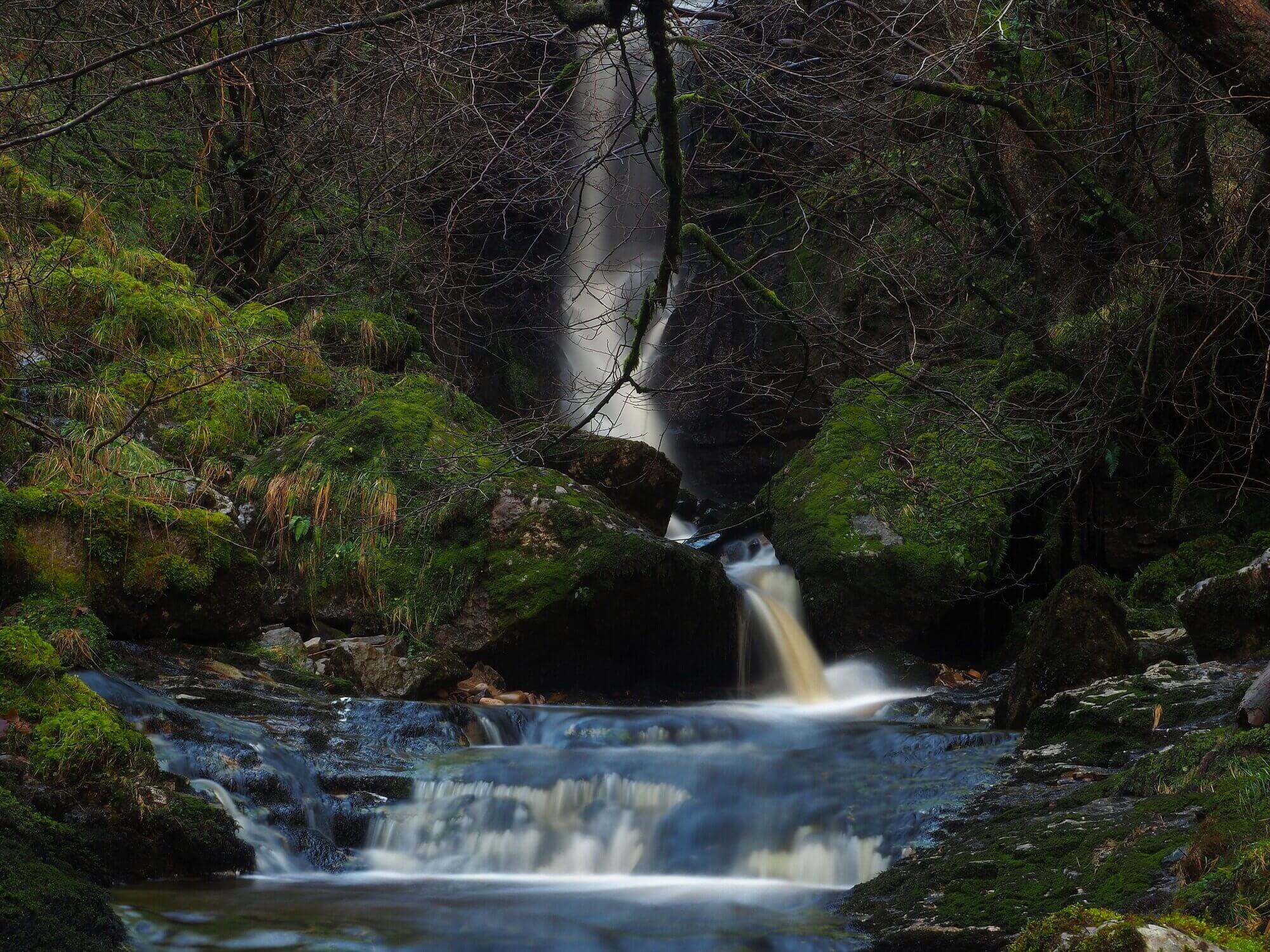 The large waterfall on Bouther Gill