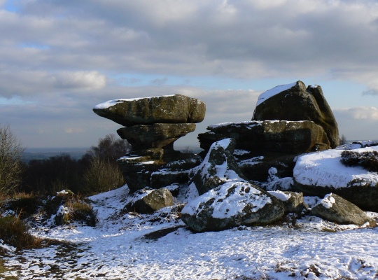 Just one example of the weirdly shaped gritstone formations at Brimham Rocks