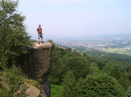 Atop one of the crags on my first visit in July 2006