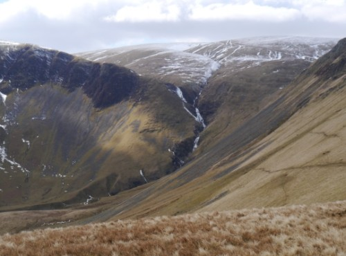 The view of Cautley Spout from Ben End gives some sense of the height of the falls