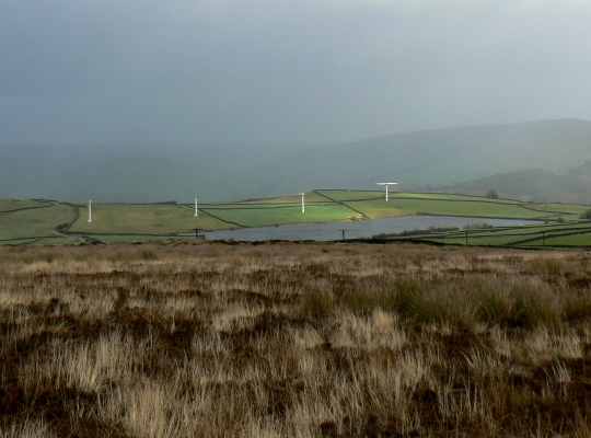 Chelker Reservoir from Draughton Moor