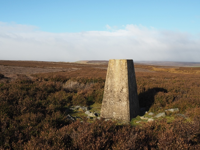 The Copperthwaite Moor trig looking towards Fremington Edge Top