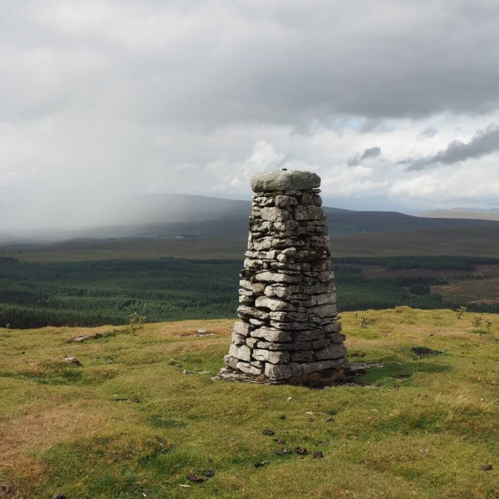 The stone pillar on Cosh Knott