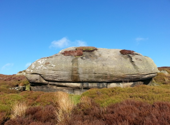 One of the larger rocks on Cow Close Crag