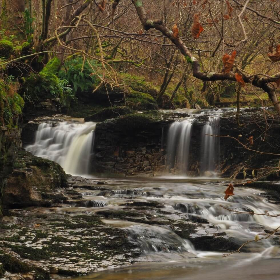A waterfall in Cray Gill