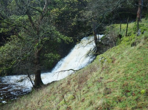The waterfall in Cray Gill below the village