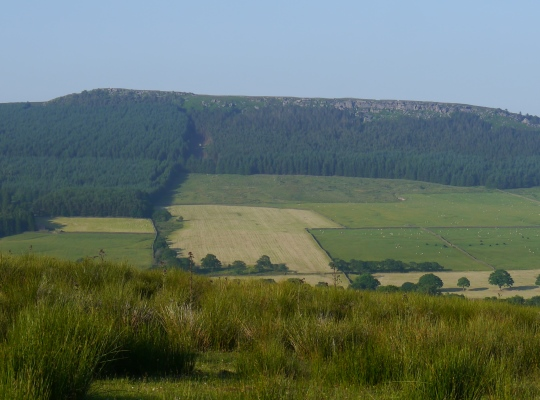 The long line of Crookrise Crag as seen from Flasby Fell