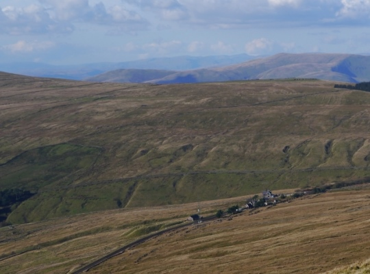 Looking down on Dent Station from the flanks of Great Knoutberry Hill