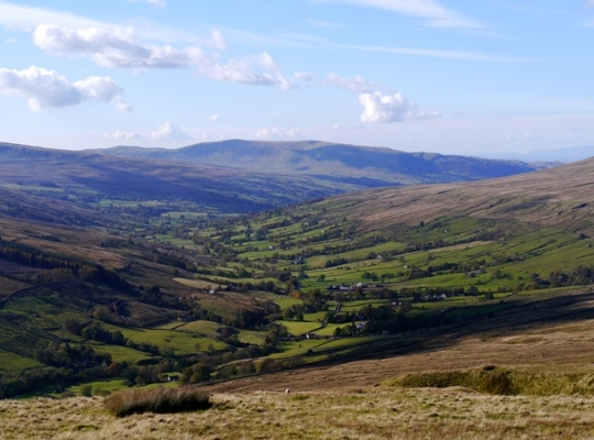 The view of Dentdale from Galloway Gate