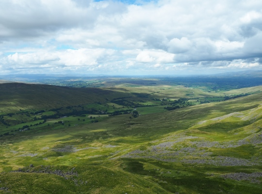 The superb view of Mallerstang and the Eden valley from High Loven Scar
