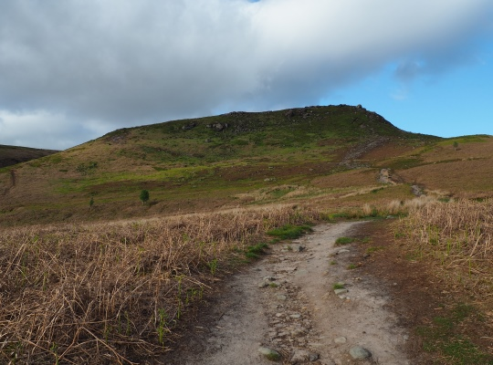 The path climbing up on to the top of Embsay Crag