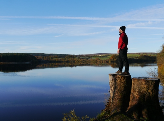 Enjoying the views over Fewston Reservoir