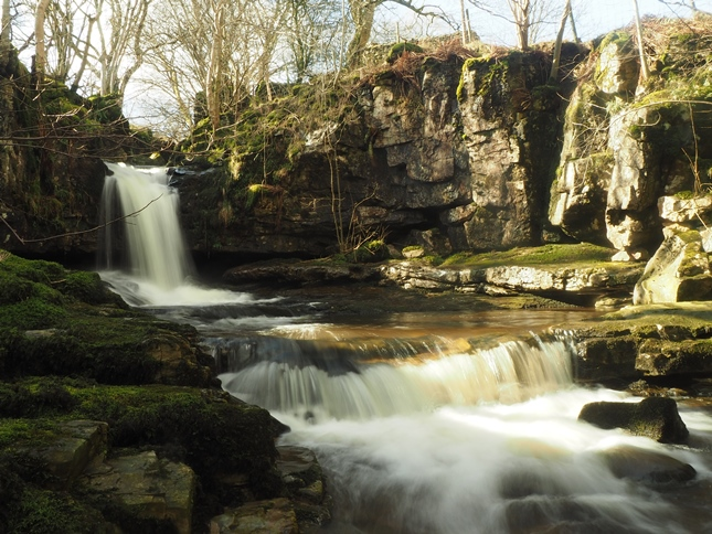 The beautfiul lower waterfall on Gastack Beck