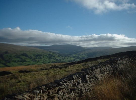 Looking down Dentdale towards Great Knoutberry Hill