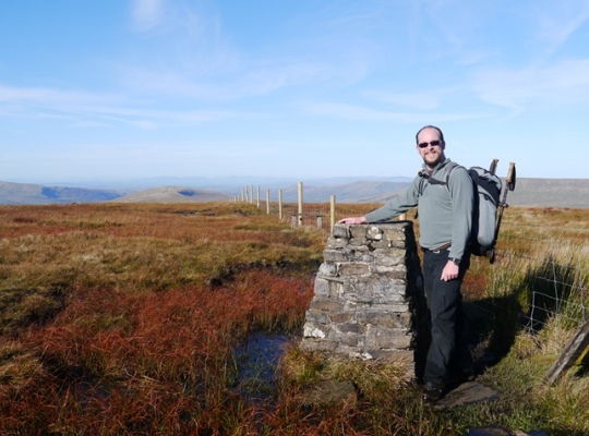 By the trig point on Great Knoutberry Hill