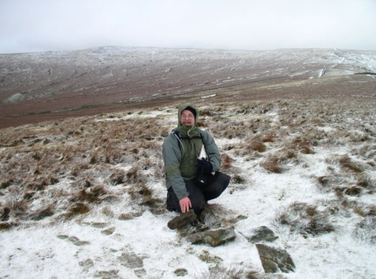 The paltry pile of stones marking the summit when we first visited in 2004 was no longer there when we returned in 2010