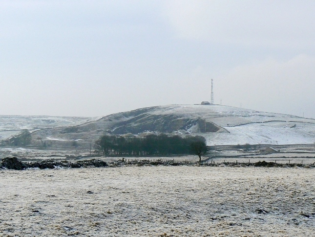Greenhow Hill Top in January 2009 when it still had its radio mast