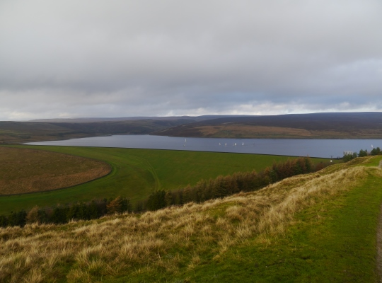 The Yorkshire Dales Sailing Club out on the waters of Grimwith Reservoir