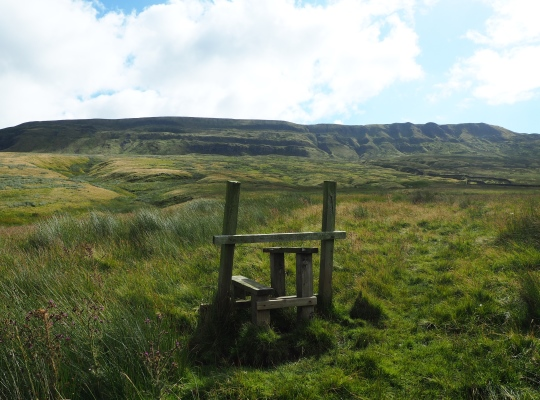 A redundant stile on the approach to Mallerstang Edge via Outhgill