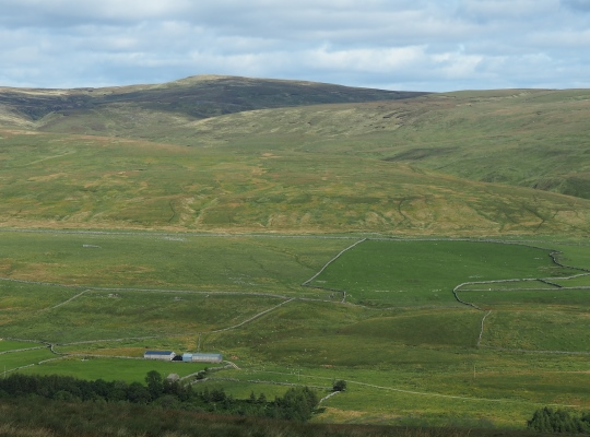 The angled fence that marks the top of Hugh Seat
