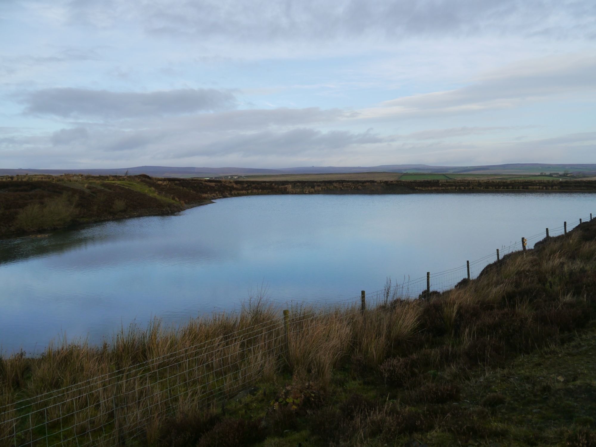The quarry pool where the Kex Gill Moor trig point used to be located.