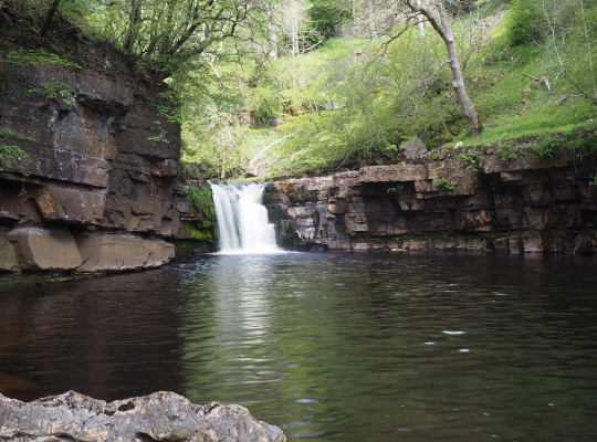 The small upper section of Kisdon Force