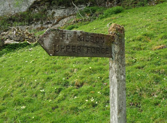 The signpost to Kisdon Force