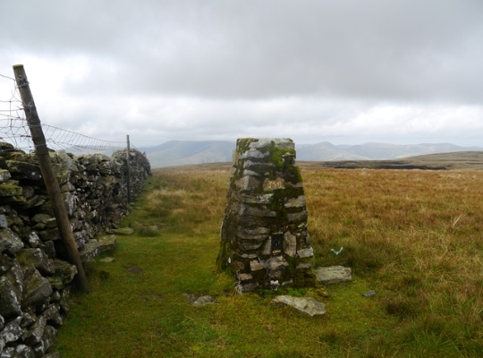 The East Baugh Fell trig point on Knoutberry Haw