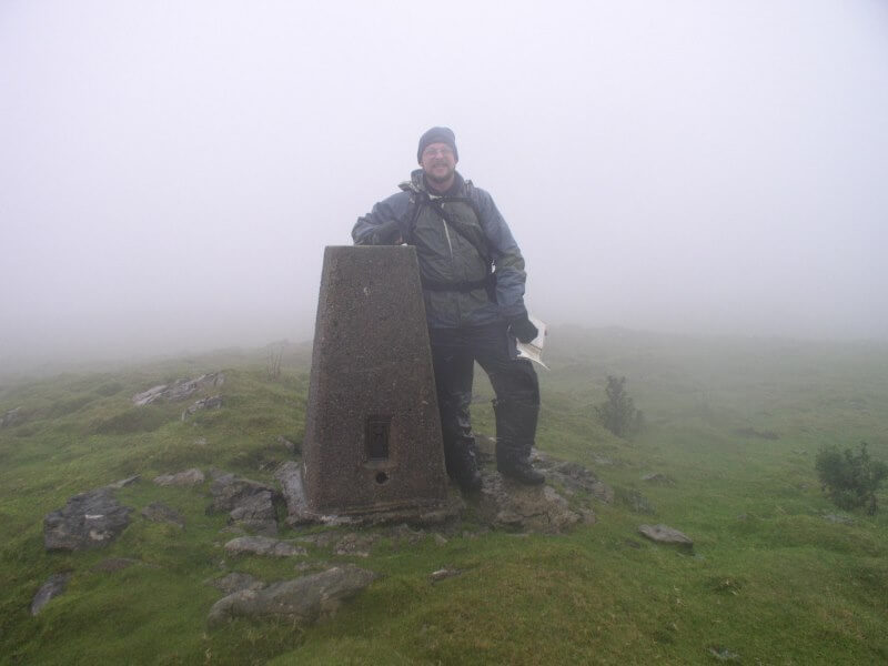 The 'view' on my second visit to the Knowe Fell trig point.