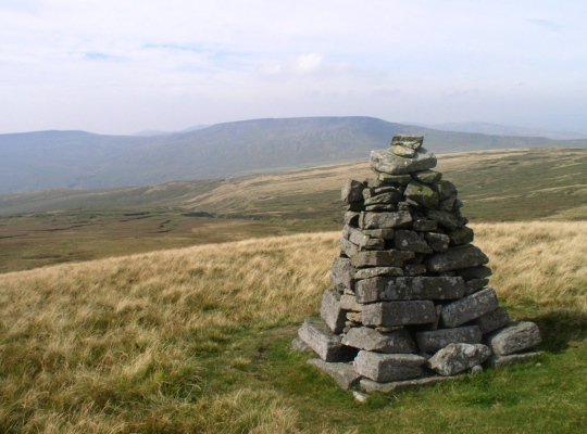 Lady's Pillar just below the summit of Hugh Seat