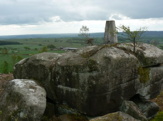Another view of the Lindley Moor trig point