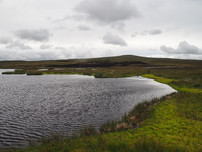 The larger of the two tarns looking towards High Seat