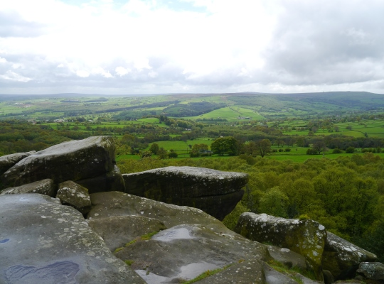 The wonderful view of Nidderdale from the Lover's Leap rocks