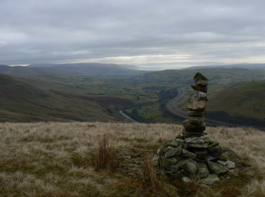 The Lune Valley from the small cairn to the south of the summit